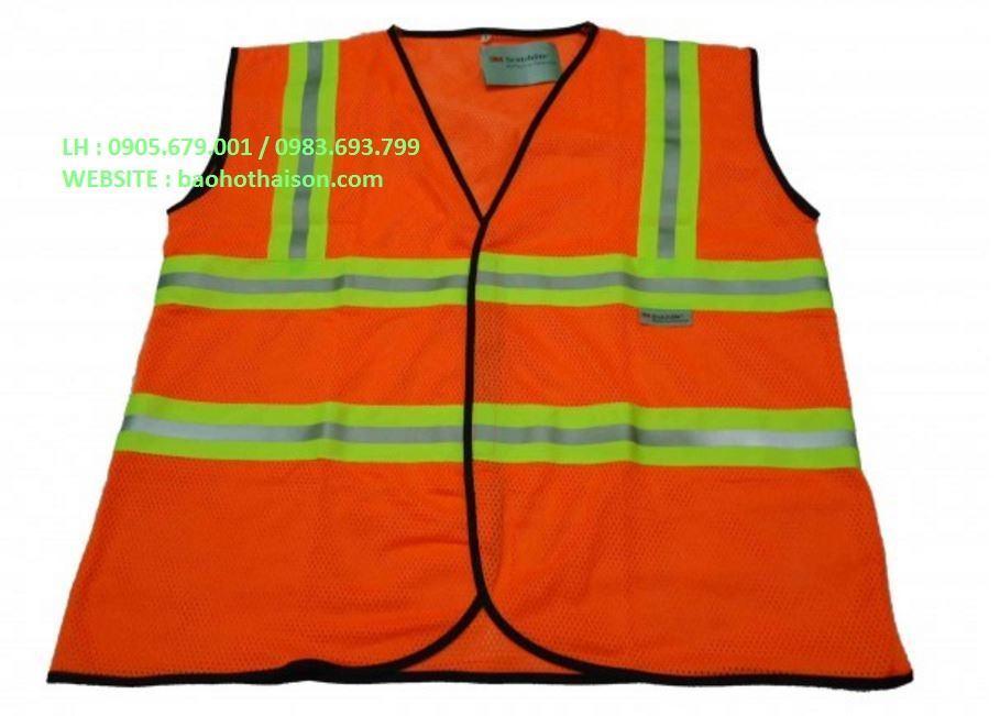 áo phản quang 3m màu cam đỏ