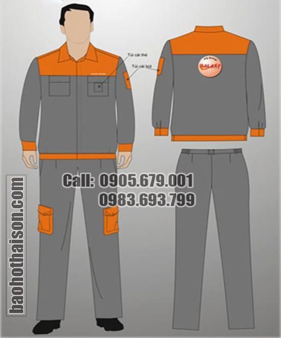 May quần áo công nhân 1