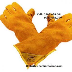 găng tay da hàn chống cháy ansell 43-216