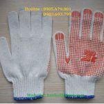 găng tay len phủ hạt nhựa