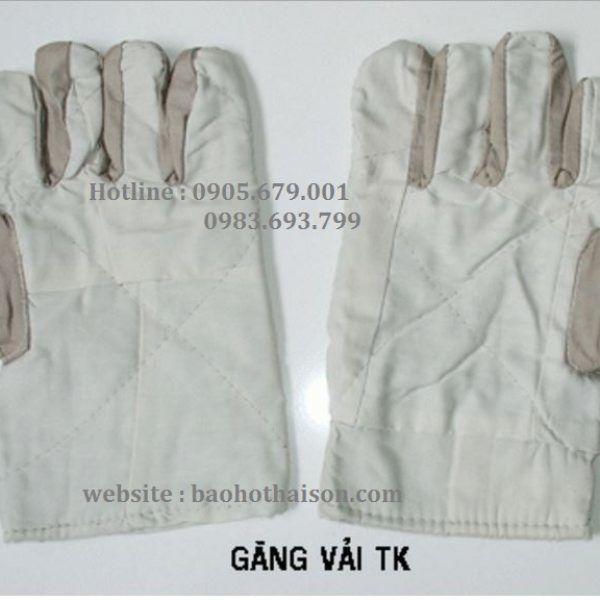 găng tay vải bạt sợi cotton