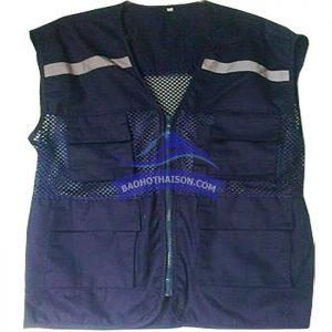 Áo gile bảo hộ màu tím than