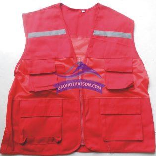 Áo gile bảo hộ màu đỏ