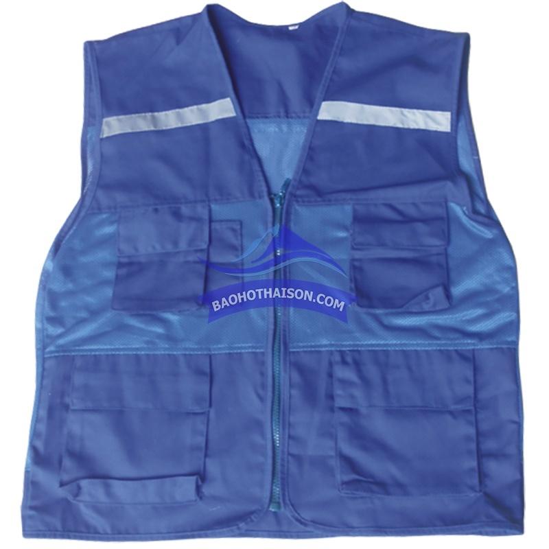 Áo ghi lê bảo hộ màu xanh