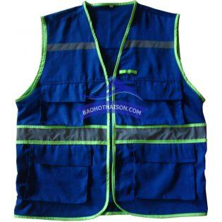 Áo ghi lê bảo hộ màu xanh có phản quang