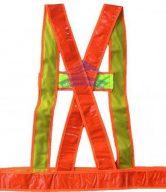 Áo phản quang dây chéo màu cam ms1
