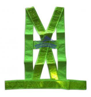 Áo phản quang dây chéo màu xanh kiểu 2 (H2)