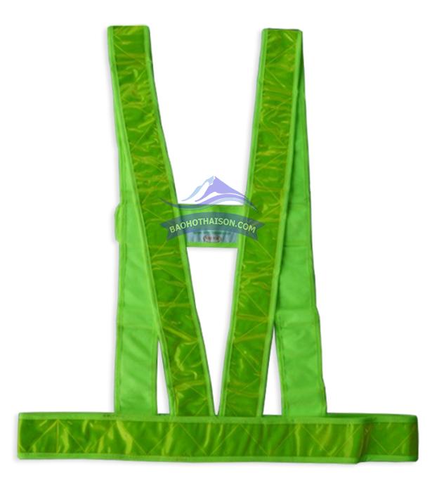 Áo phản quang dây chữ M màu xanh