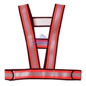 Áo phản quang chữ A màu đỏ
