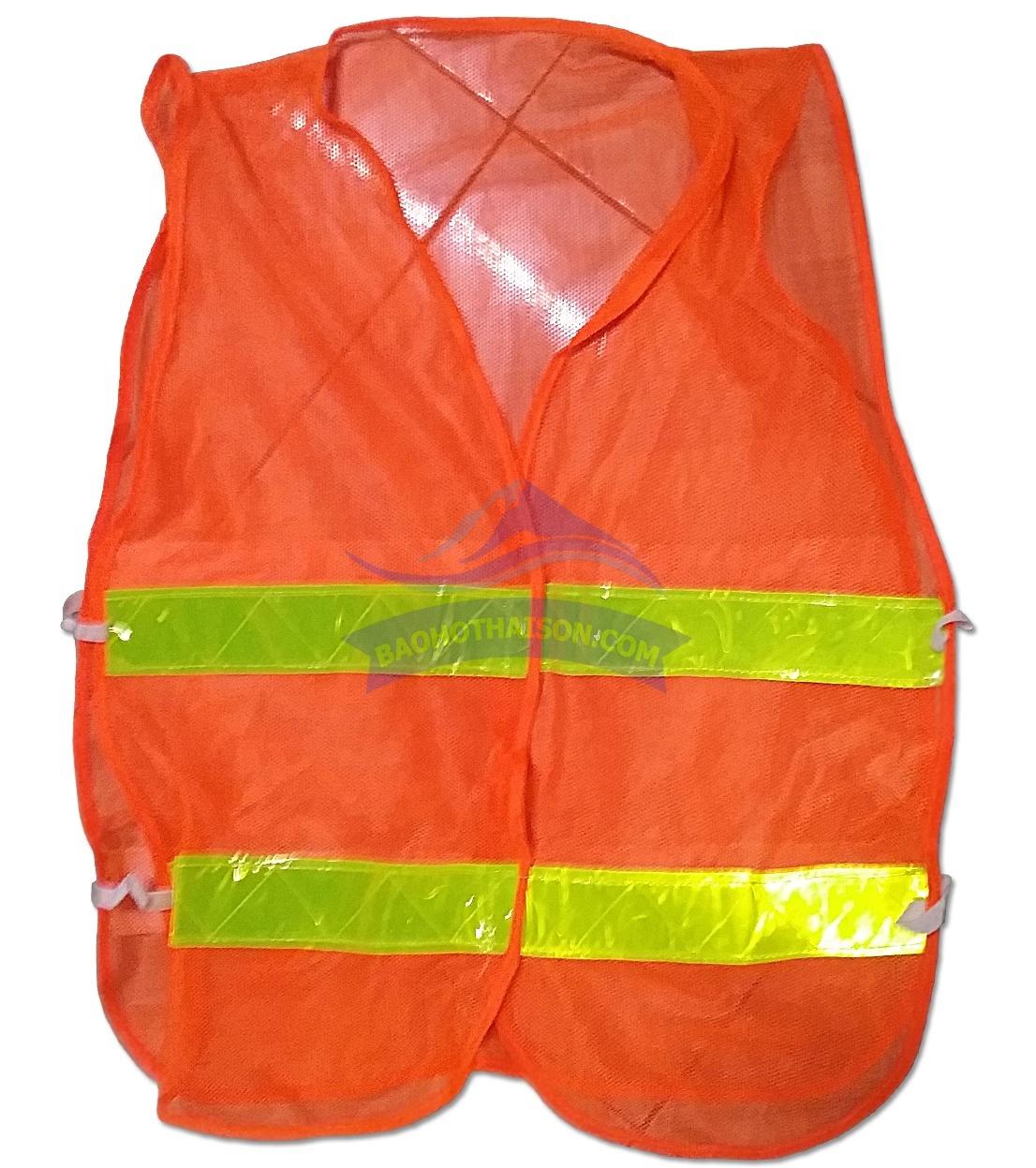Áo phản quang lưới hai mảnh màu cam