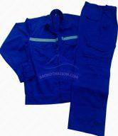 Quần áo bảo hộ lao động màu xanh 02