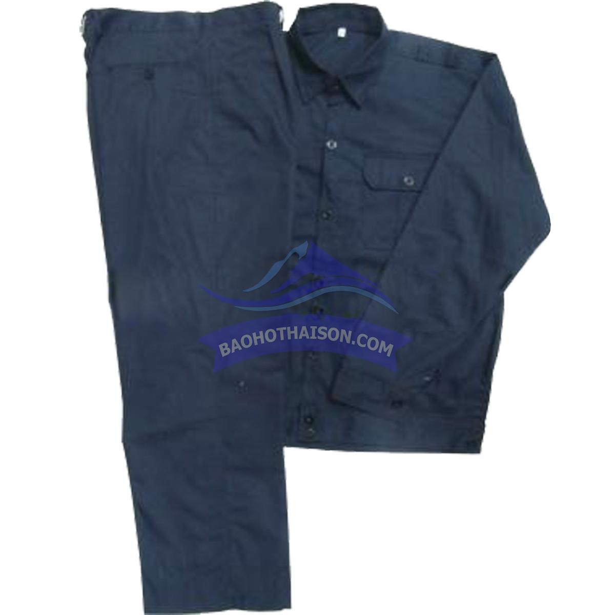 Quần áo bảo hộ lao động màu xanh đen