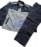 Quần áo bảo hộ lao động phối màu đen trắng