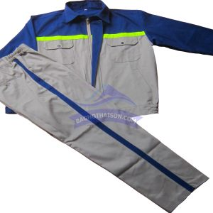 Quần áo bảo hộ lao động phối màu xanh ghi