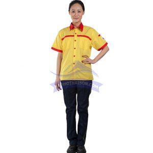 Quần áo công nhân màu vàng đen