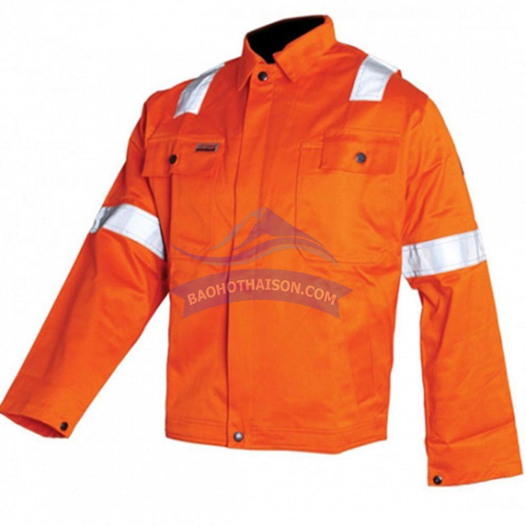 Áo bảo hộ phản quang màu cam giá rẻ nhất.
