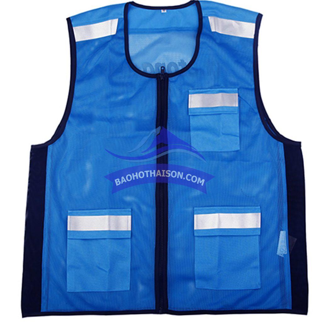 Áo gile phản quang lưới màu xanh dương giá rẻ nhất thị trường