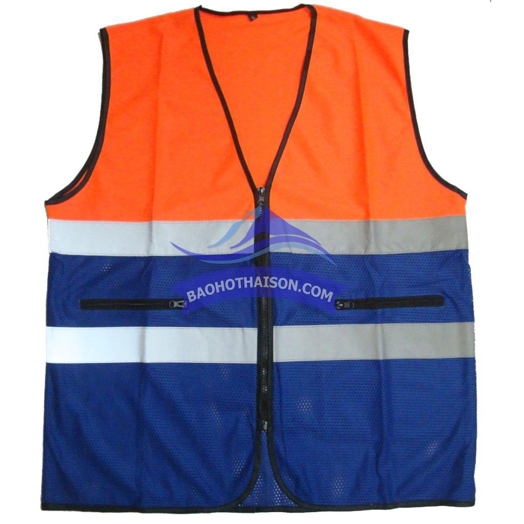 Áo gile phản quang lưới phối màu giá rẻ nhất