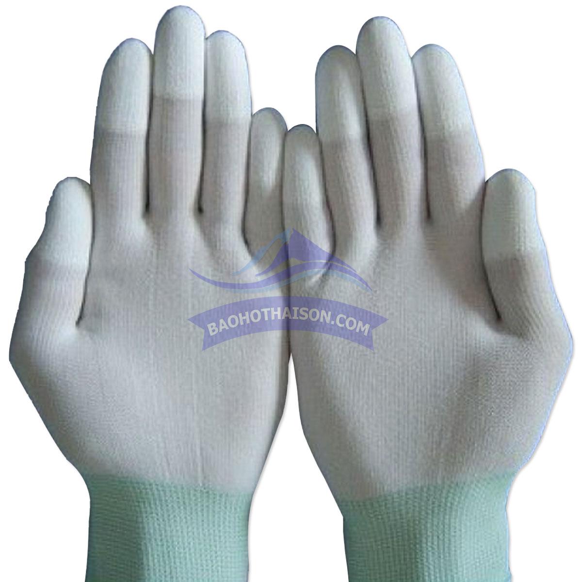 Găng tay phủ pu đầu ngón