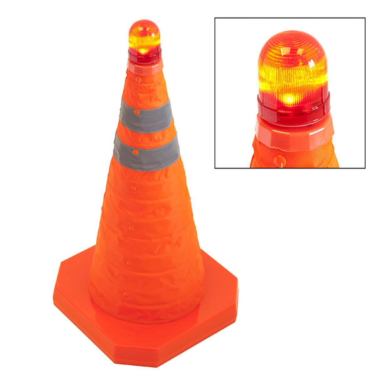Cọc tiêu giao thông xếp gọn có đèn chớp