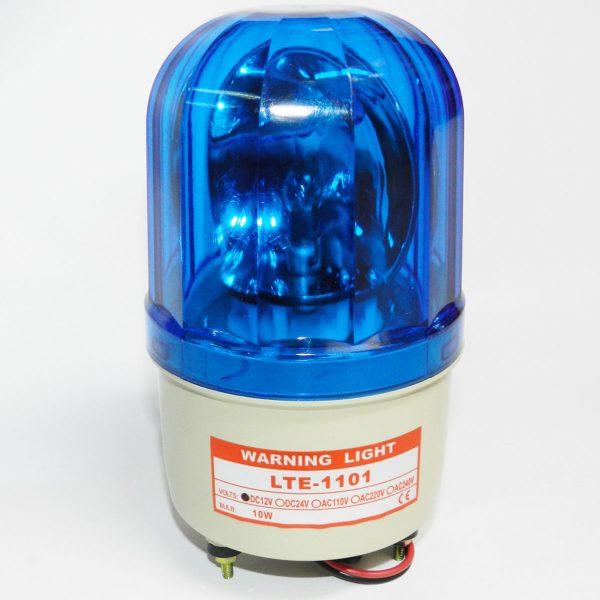 Đèn xoay cảnh báo công trường 12v màu xanh dương