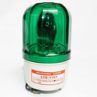Đèn xoay cảnh báo công trường màu xanh lá 220v