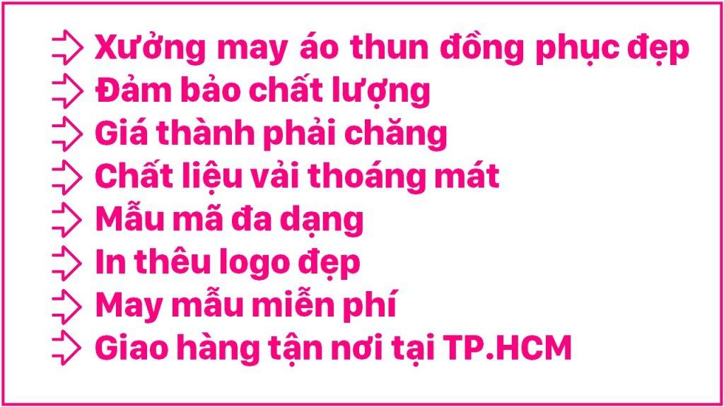 Địa chỉ may áo thun đồng phục công ty đẹp tại TPHCM