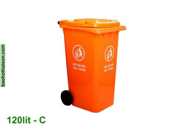 Thùng rác nhựa 120 lít HDPE C