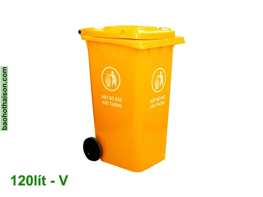 Thùng rác nhựa 120 lít HDPE V