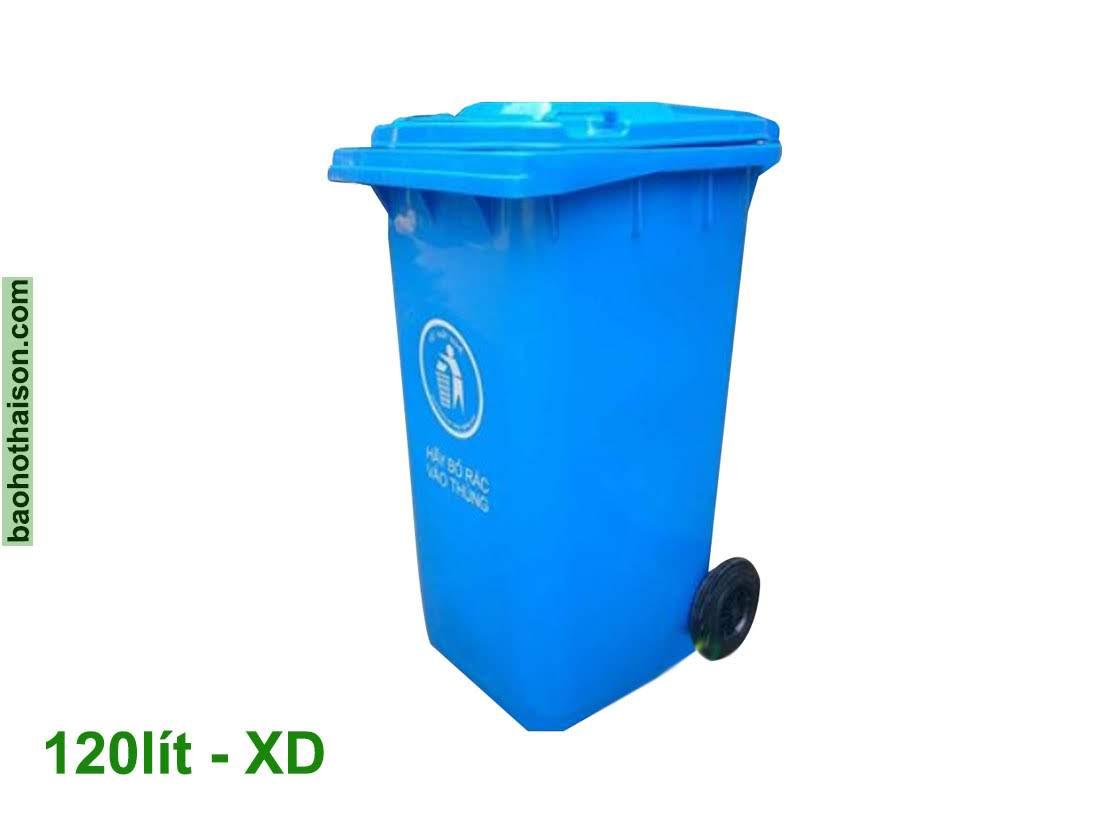 Thùng rác nhựa 120 lít HDPE XD