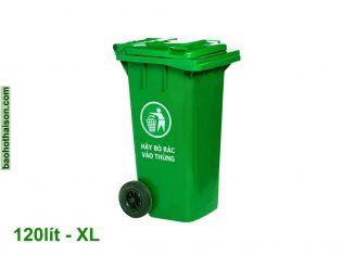 Thùng rác nhựa 120 lít HDPE XL