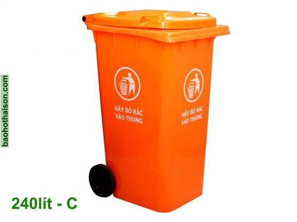 Thùng rác nhựa 240 lít HDPE C