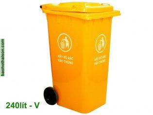 Thùng rác nhựa 240 lít HDPE Vàng