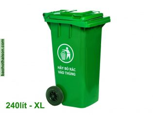 Thùng rác nhựa 240 lít HDPE XL