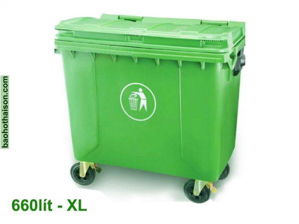 Thùng rác nhựa 660 lít HDPE XL