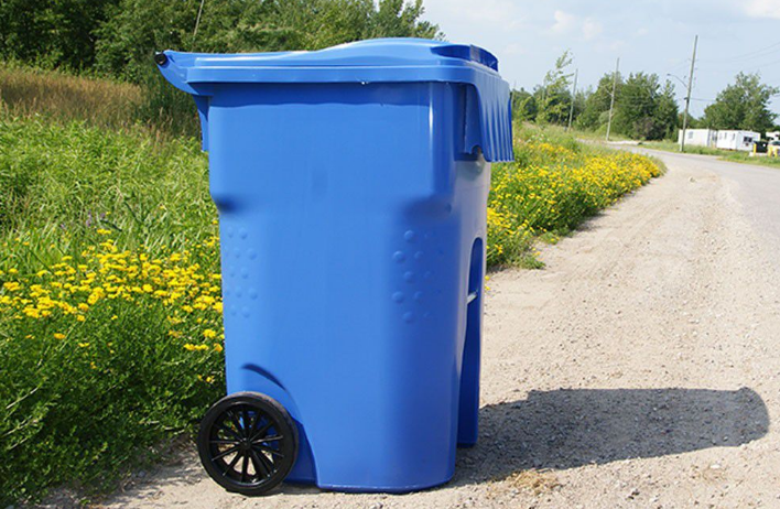 Một mẫu thùng rác công cộng